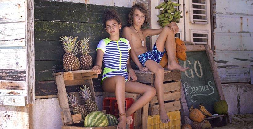 Solbeskyttende tøj til børn<br>
