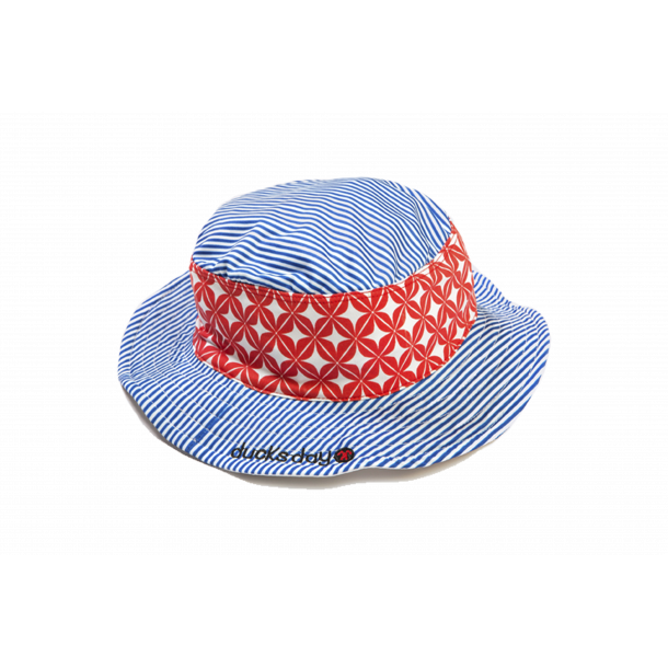 Solhatt Ducksday Blue stripe UPF 50+