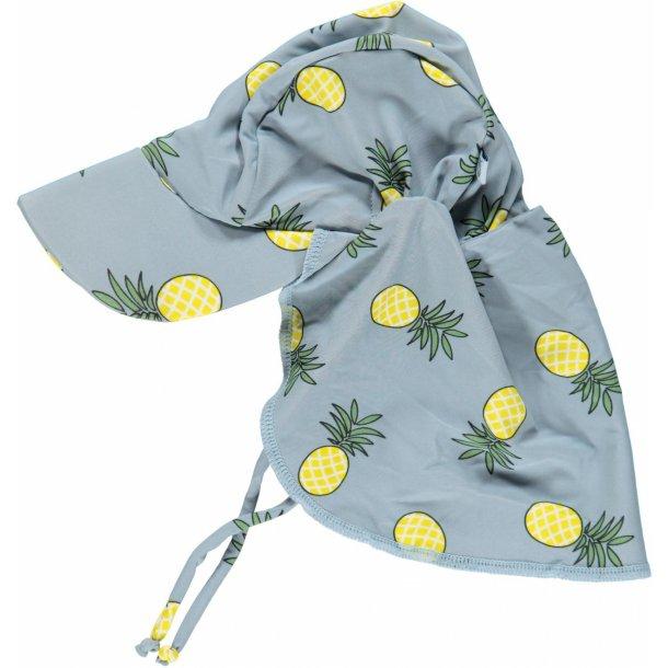 Solhatt Småfolk blå med ananas UPF50+