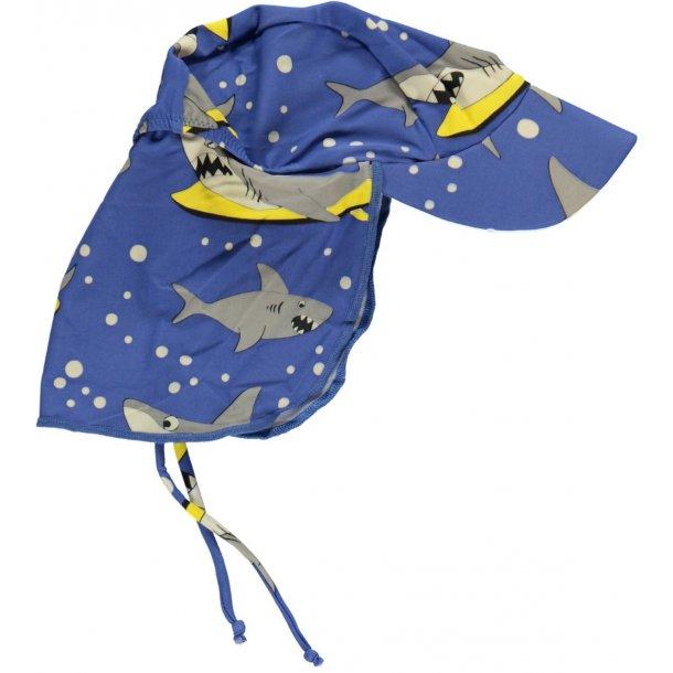Solhatt Småfolk blå hajar UPF50+