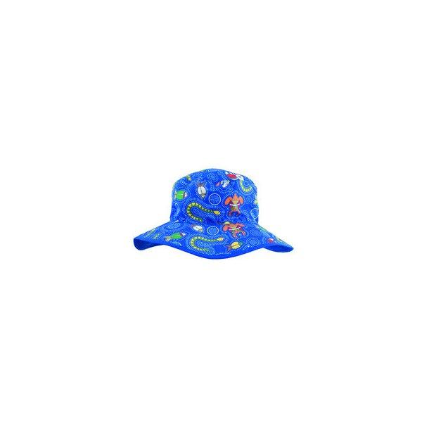 Baby banz blå dreamtime vendbar solhatt UPF 50+