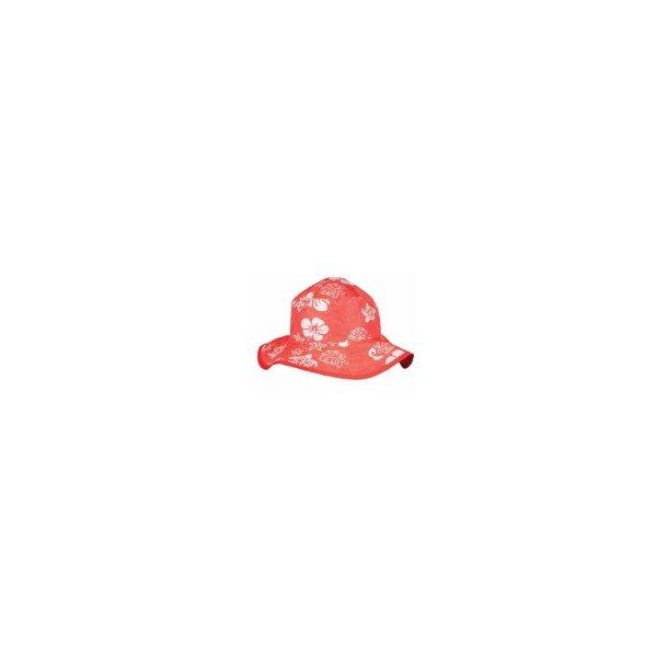 Babybanz röt solhatt med blommor UPF 50+