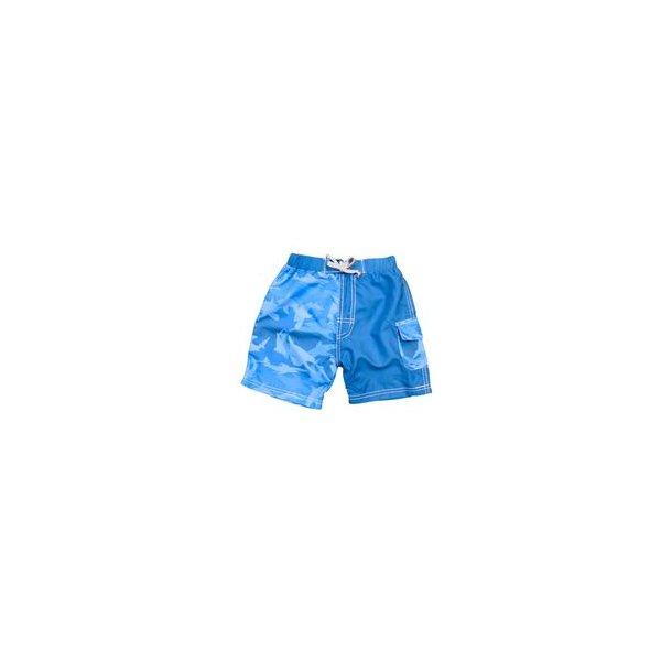 Boardshorts Baby Banz blå med hajar UPF 50+