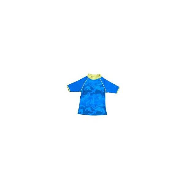 Uv t-shirt Baby Banz blå med hajar upf 50+