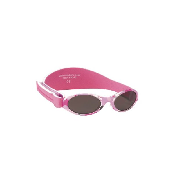 Baby Banz solbrille med justerbar rem camouflage pink