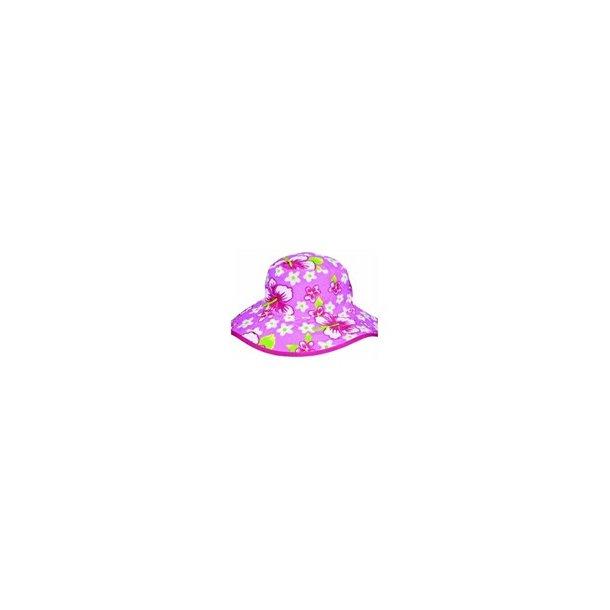 Baby Banz rosa vendbar solhatt UPF 50 +