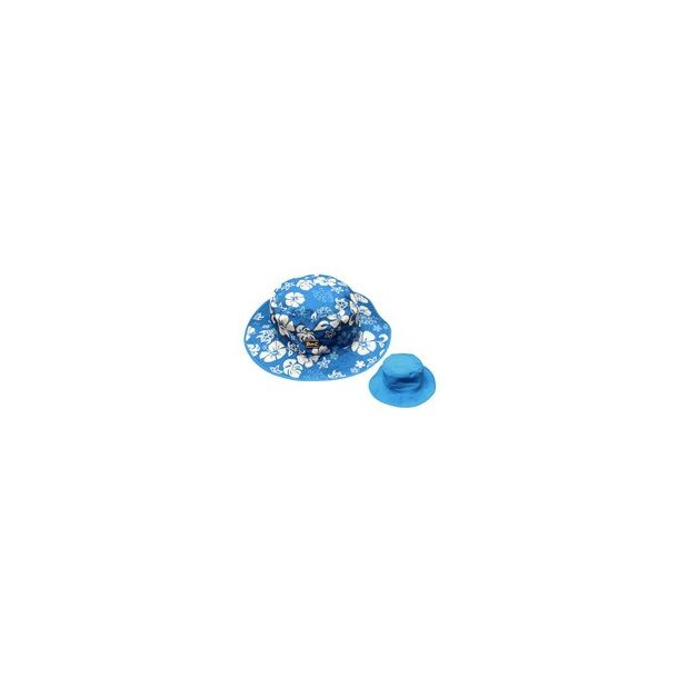 Baby banz blå/hawaii vendbar solhat upf50+