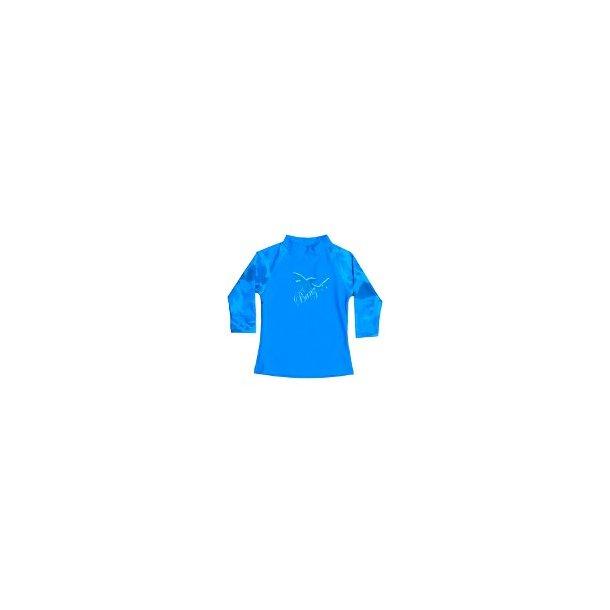 Uv-bluse lange ermer Baby Banz blå med haier upf 50+