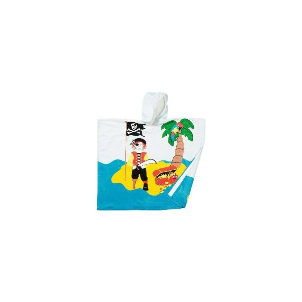 Läcker frottéponcho till barn - pirat (72X72 cm)