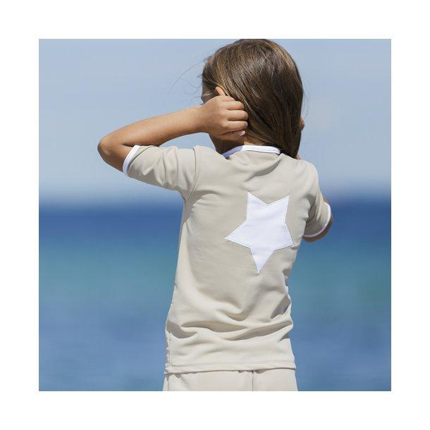 Bluse m/lynlås og korte ærmer - Petit Crabe