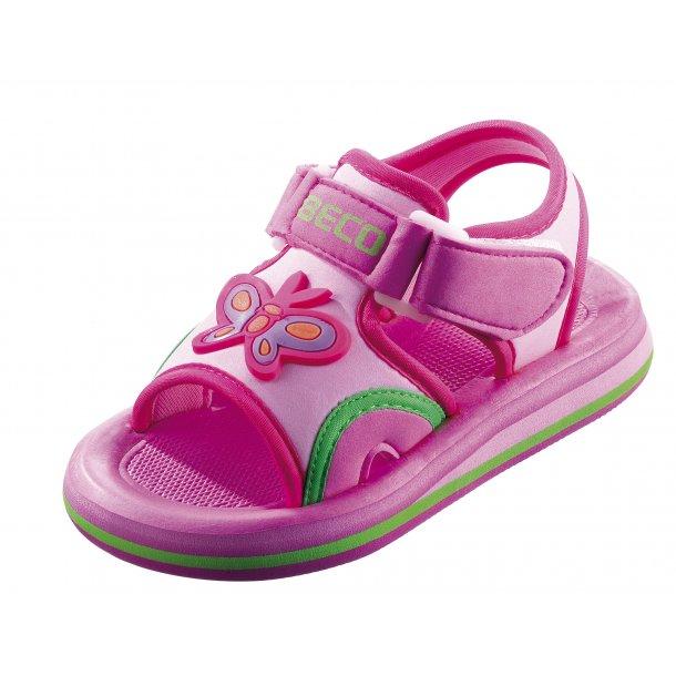 Beco sandal pink med sommerfugl