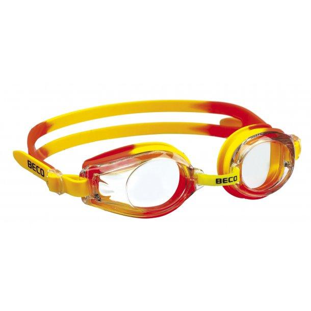 Beco Rimini Svømmebrille gul/orange 100 % uv-beskyttelse