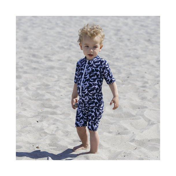 Petit Crabe - bodysuit, Blue dolphin