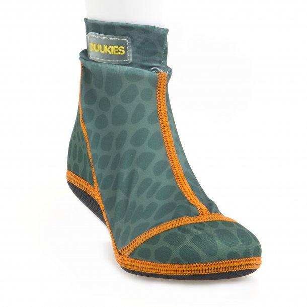 Duukies badesokker grön leopard UPF 50+