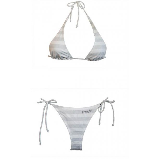 Bikini i silver & vitrandigt. 36-46