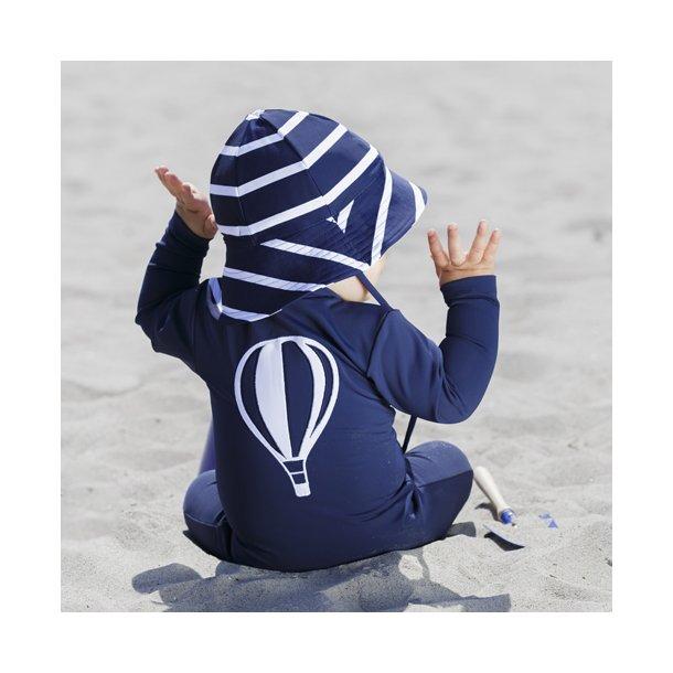 Blå Heldräkt med långa ärmar och ben, Petit Crabe