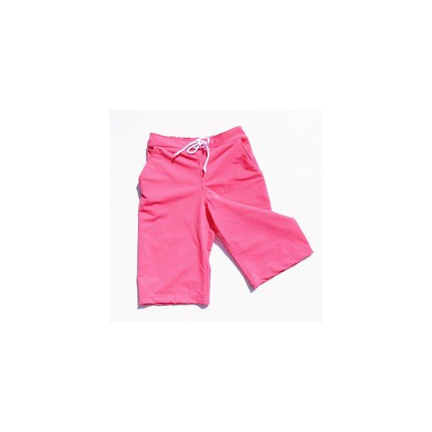 Hindbærfarvet uv shorts lang