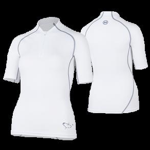 45691756 Uv t-skjorte hvit med glidelås UPF 80+ Hyphen