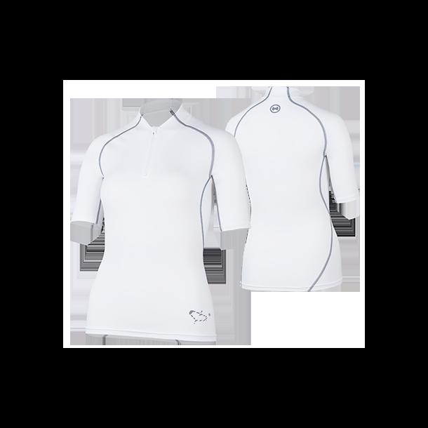 Uv t-skjorte hvit med glidelås UPF 80+ Hyphen