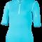 f47e1931 Uv t-skjorte turkis med glidelås UPF 80+ Hyphen