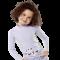 Langermet bluse fra hyphen upf 80+ lyselilla