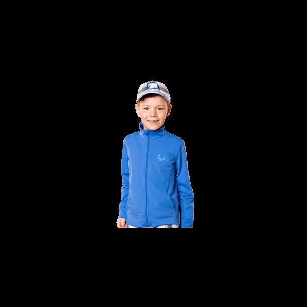 Langermet bluse fra hyphen upf 80+ blå med borrelås