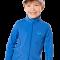 Langærmet bluse fra hyphen upf 80+ blå med lynlås