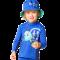 Långärmad blå uv-blus Hyphen UPF 80+