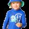 Langærmet bluse fra hyphen upf 80+ coboltblå