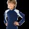 Långärmad uv-blus Hyphen UPF 80+ blå