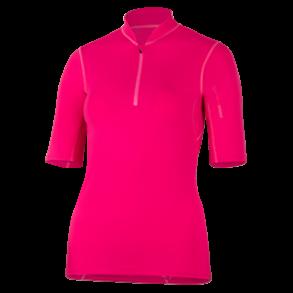 d7e80c0d Uv t-skjorte rød med glidelås UPF 80+ Hyphen