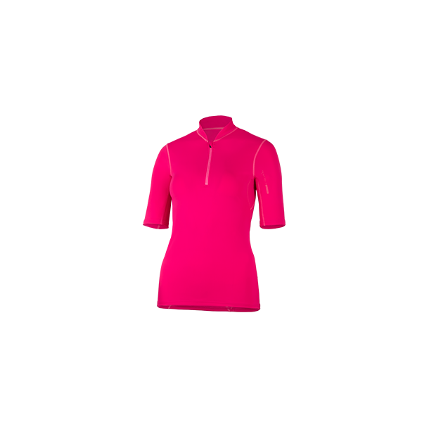 Uv t-skjorte rød med glidelås UPF 80+ Hyphen