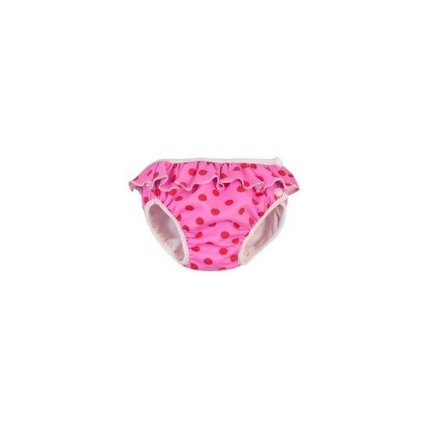 Bleiebadebukser Imse Vimse - rosa red dots