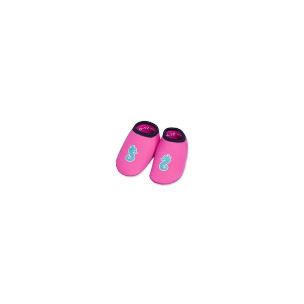 Badesko Imse Vimse - pink med søhest