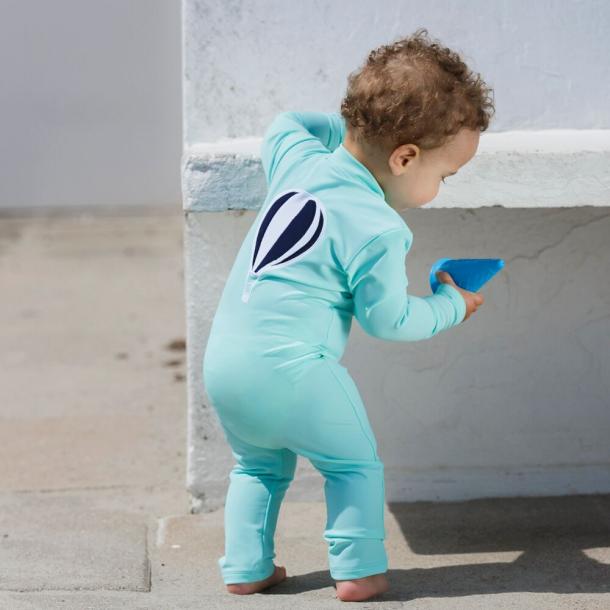 Heldräkt med långa ärmar och ben ballon Petit Crabe