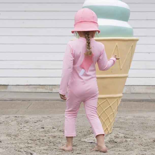 Uv heldräkt med långa ärmar och ben Soft rose Ice Cream