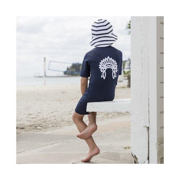 Petit Crabe - Uv dräkt med korta ärmar och ben, blå Chief