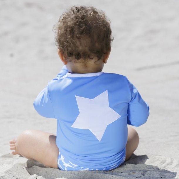 Blus med dragkedja vit stjärna på baksidan - Petit Crabe