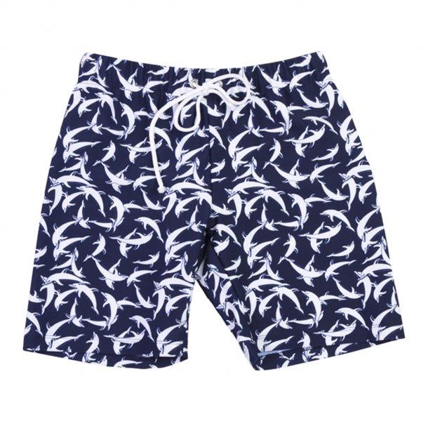 Shorts, korte med resår, Blue dolphin