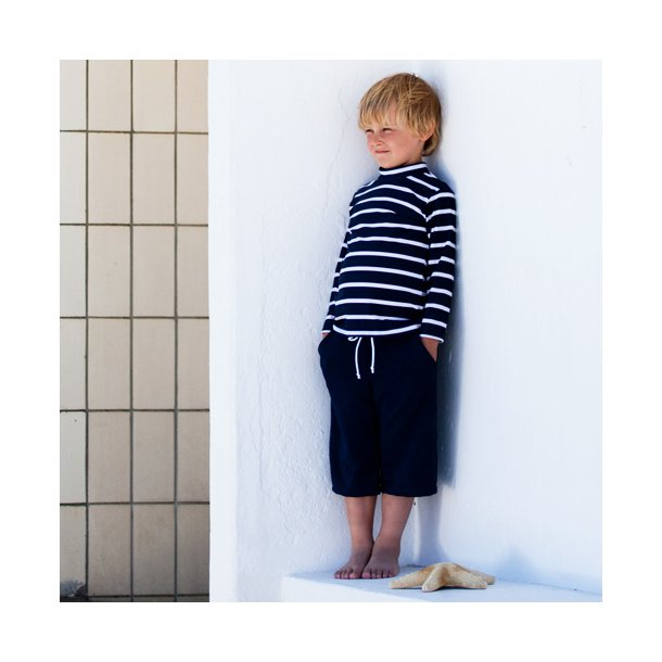 Blå uv shorts lang