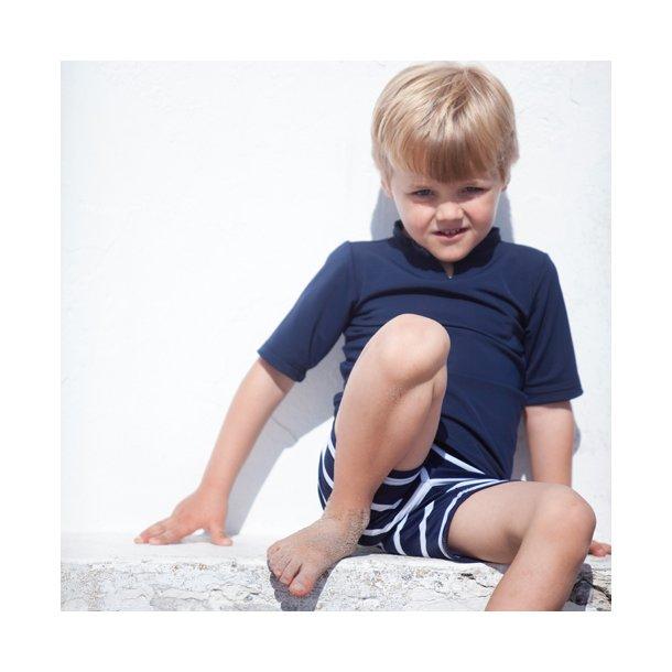 Uv t-shirt blå Petit Crabe UPF 50+