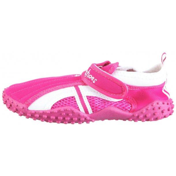 Badskor från Playshoes rosa/vit