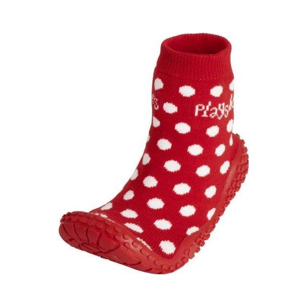 Playshoes badstrumpor röd med prickar
