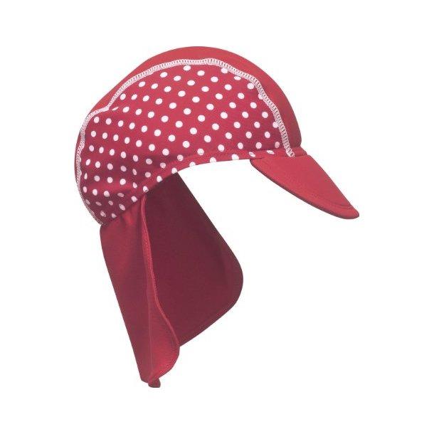 Solhatt röd med prickar UPF 80+ Playshoes