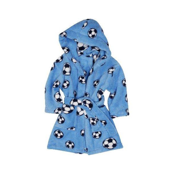 Fleece badekåbe lyseblå