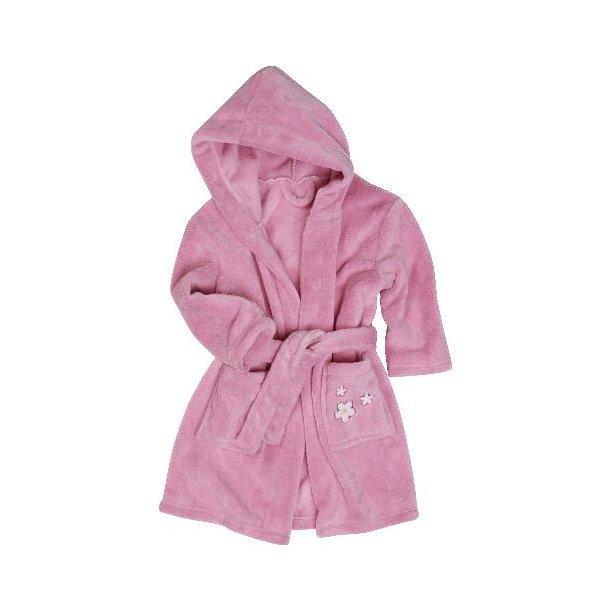 Fleece badekåbe lyserød