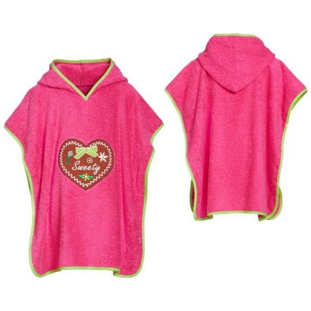 Badeponcho frotté rosa