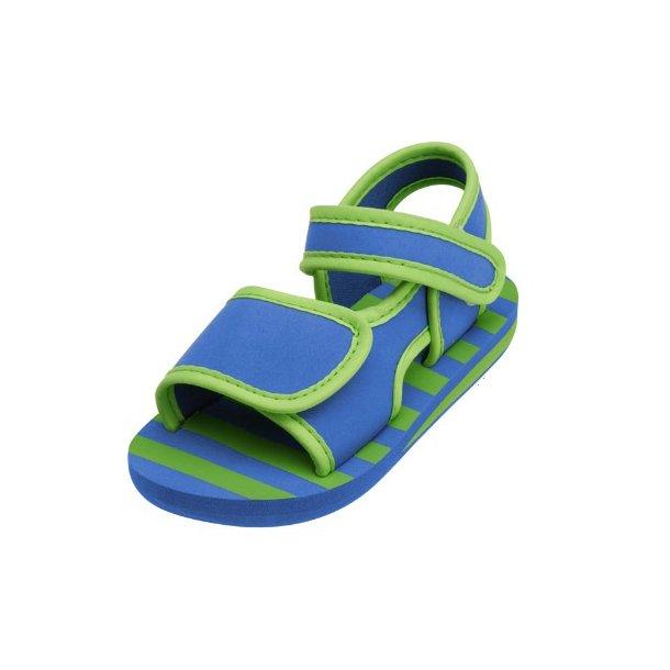 Playshoes badesandaler blå/grønn