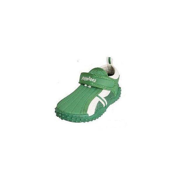 Badskor från Playshoes grön/vit UPF 80+