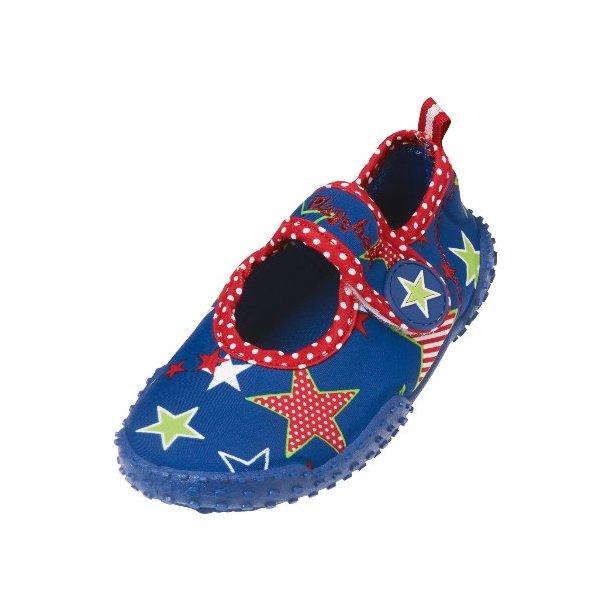 Badskor Playshoes blå med stjärnor